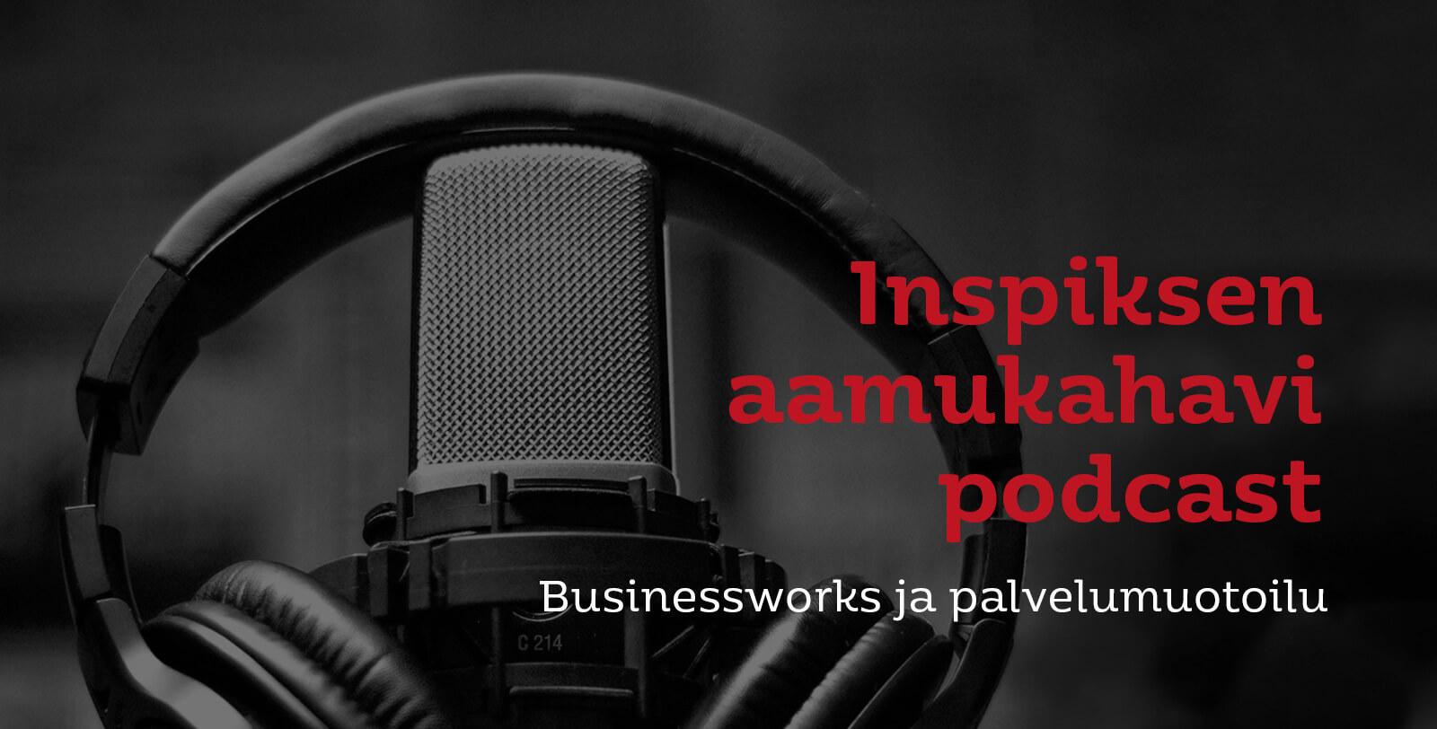 Design Inspis aamukahavit podcastissa vieraana businessworksin Johanna Laurinen - kuvituskuva