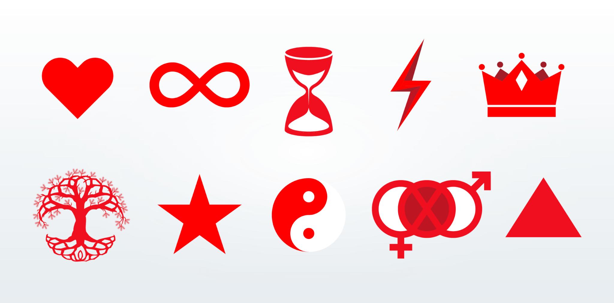 Design Inspis Laura Tiiton suunnittelemat symbolit - graafinen suunnittelu