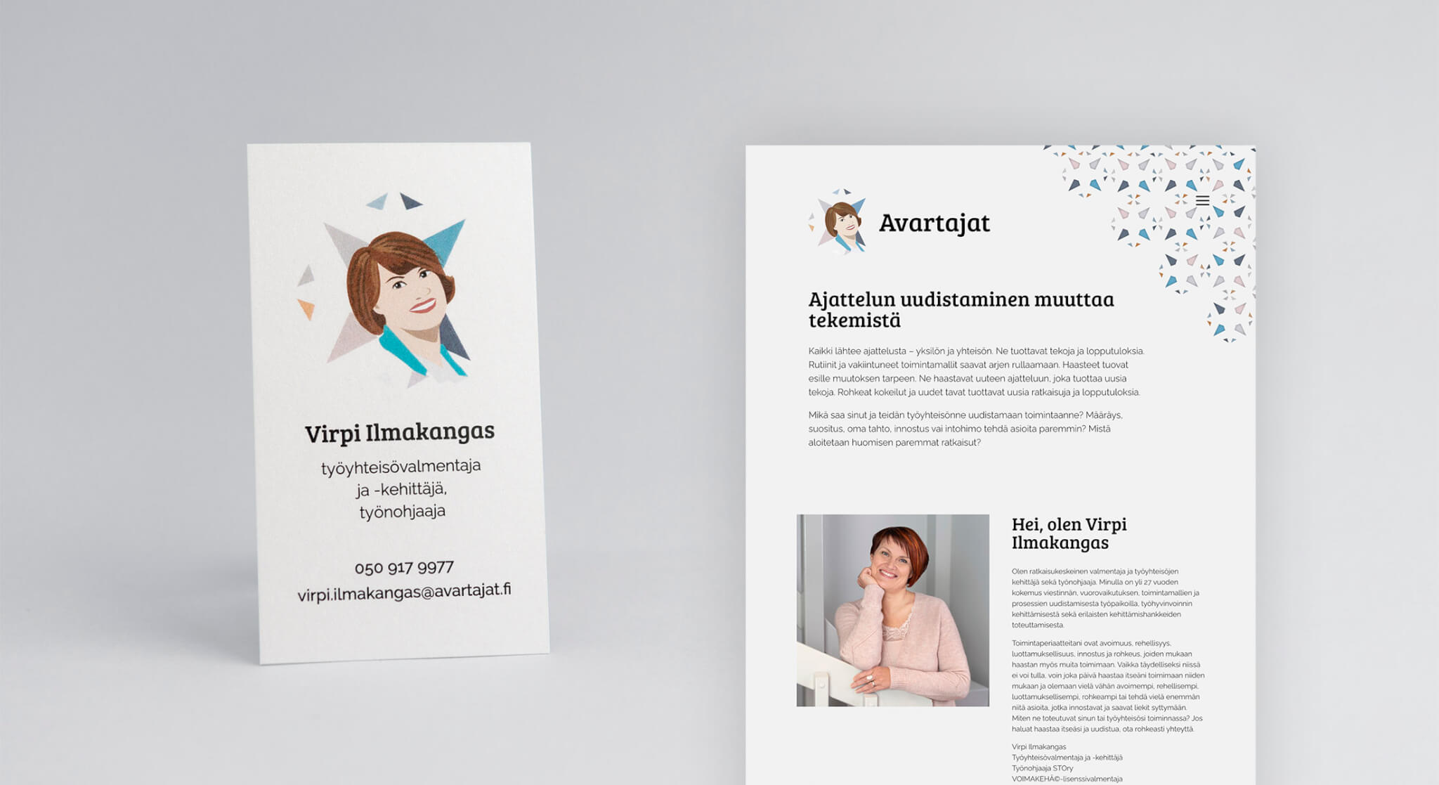 Avartajat Oy:n Uusi Käyntikortti Ja Sivusto.